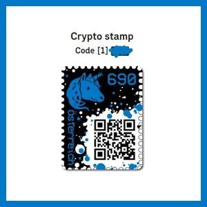 1 x CRYPTO STAMP BLUE / BLAU | 4 DIGIT / 4 STELLIG ★★★★★ ORIGINAL | NEW / NEU