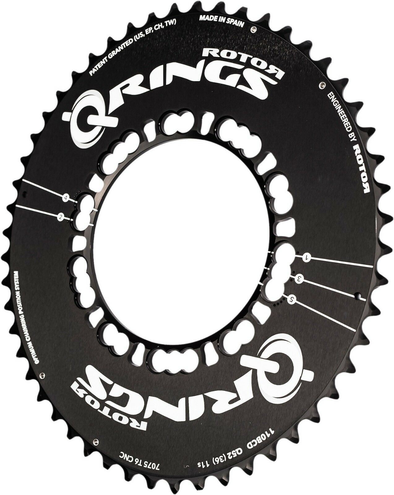 Redor Q-Ring and NoQ Oval Aero Road Chainring 110bcd 5 bolt