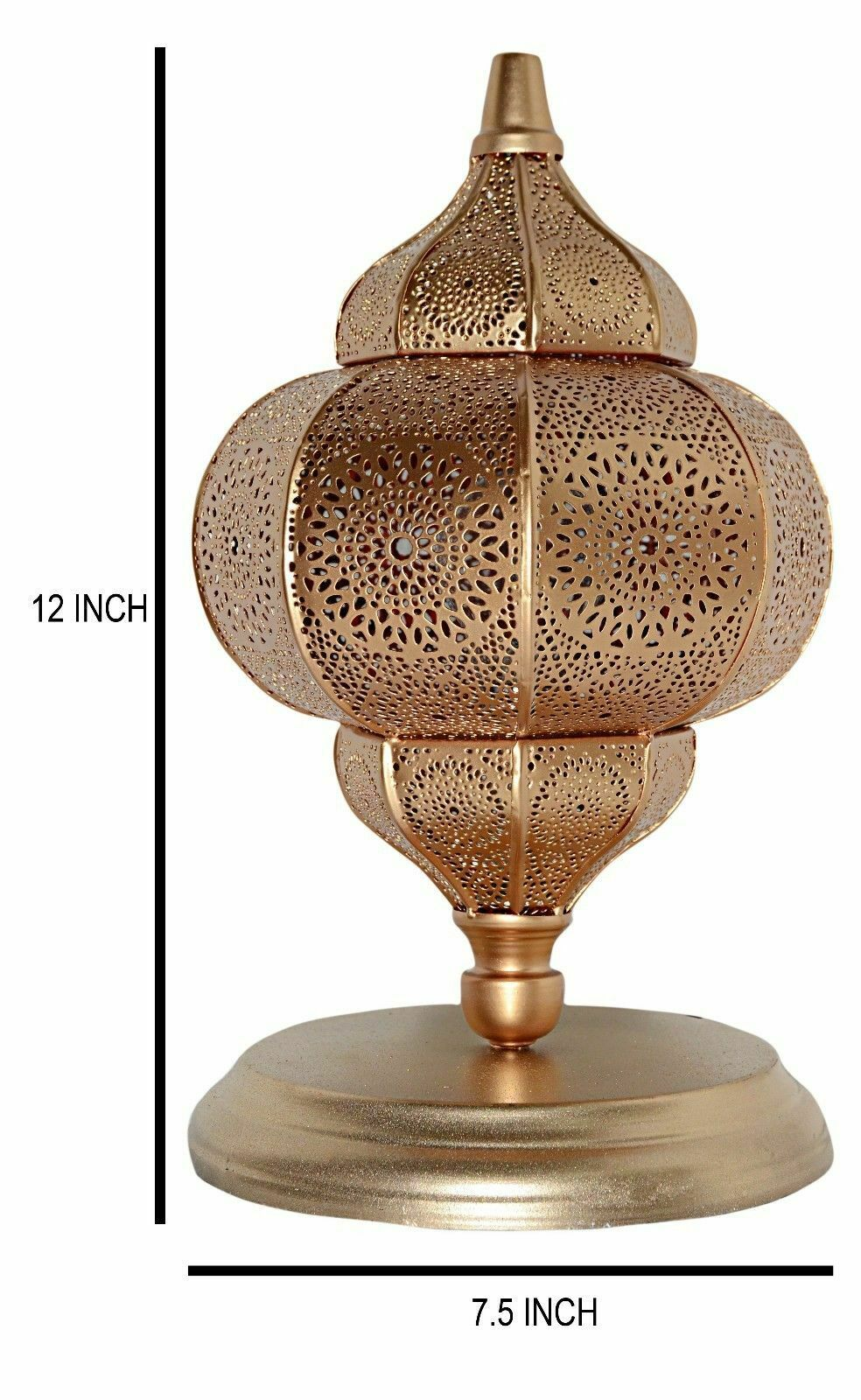 Indian Night Lampshade Moroccan Bedroom Floor Desk Metal Lamp Yellow 12 X 7 5 For Sale Online Ebay