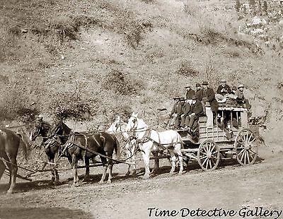 Last Trip of the Deadwood, South Dakota Stagecoach - 1890 - Historic Photo Print
