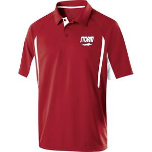 Storm Mens Trauma Performance Polo Bowling Shirt Scarlet Dri-Fit