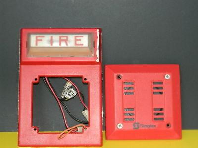Simplex 4903 9101 Fire Alarm Red Horn 2901 9840 Strobe