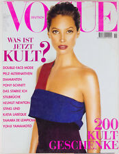CHRISTY TURLINGTON Helmut Newton STING Iris Palmer ESTHER CANADAS Vogue magazine