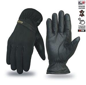 Softshell-Waterproof-Hard-KNUCKLE-Biker-Real-Leather-Motorcycle-Motorbike-GLOVES