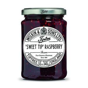 Tiptree Sweet Tip Raspberry Preserve, 12 Ounce Jar