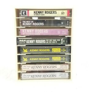 Kenny Rogers Tape Cassette Lot Of 8 & N Stac Storage