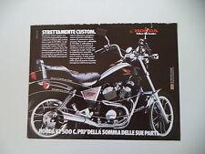 advertising Pubblicità 1984 MOTO HONDA VT 500 C CUSTOM