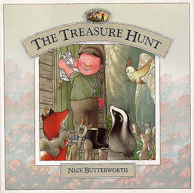 """AS NEW"" Butterworth, Nick, The Treasure Hunt (Percy the Park Keeper), Book"