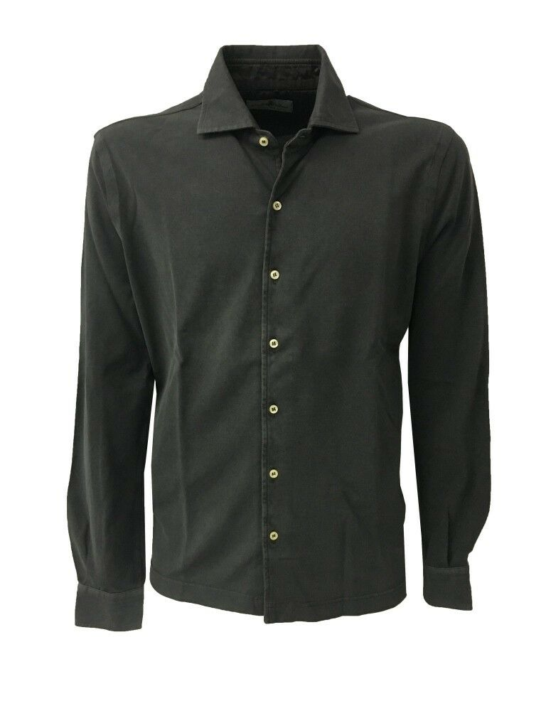rivenditore di vendita 52a39 7bfd2 Details about Della ciana Men's Shirts Pique Washed-Out Anthracite 100%  Cotton Slim