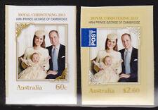 2014 Royal Christening HRH Prince George of Cambridge - Set of 2 Booklet Stamps