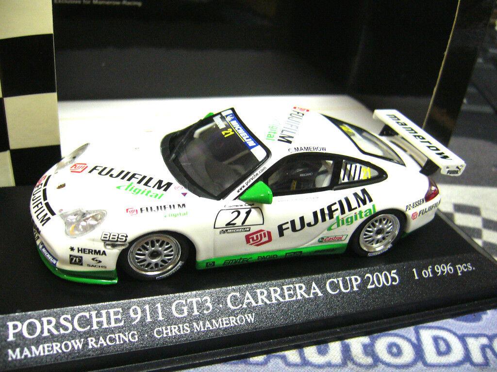 Porsche 911 996 gt3 Carrera Cup 2005 MAMEROW Fujifilm 1 996 pma Minichamps 1 43