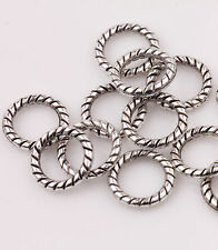 100 Tibetan Silver Circle Spacer Bead Charm Jewelry Finding Making Craft 8mm DIY