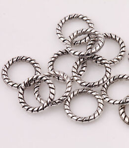 Wholesale-100-Tibetan-Silver-Circle-Spacer-Bead-Jewelry-Finding-Craft-8mm-DIY
