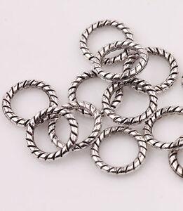 100-Tibetan-Silver-Circle-Spacer-Bead-Charm-Jewelry-Finding-Making-Craft-8mm-DIY