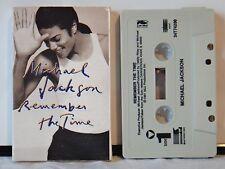 Vintage Michael Jackson Single Cassette Tape~Remember The Time~ 1991