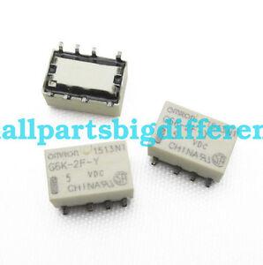 20/50/100pcs G6K-2F-Y-5VDC New SMD 8Pins Relay 5V DC5V Wholesaler
