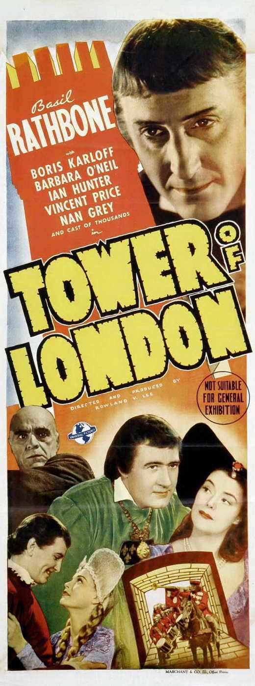 Tower Of London Movie Poster Insert 14x36 Replica