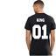New-Couple-T-Shirt-King-01-and-Queen-01-Love-Matching-Shirts-Couple-Tee-Tops thumbnail 9