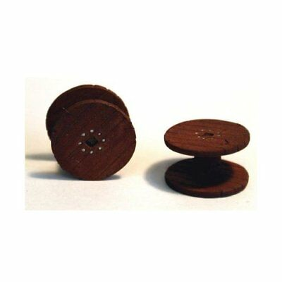 100% Vero 2 X Large Empty Cable Drums. (oo Scale) - Unpainted - Langley F241