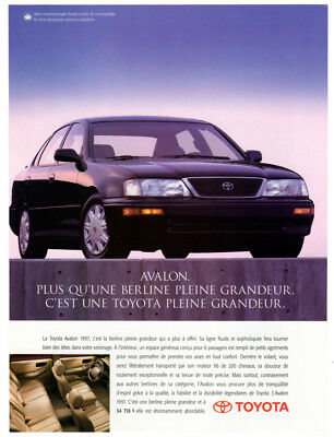 1998 TOYOTA Corolla Vintage Original centerfold Print AD Black car photo Canada