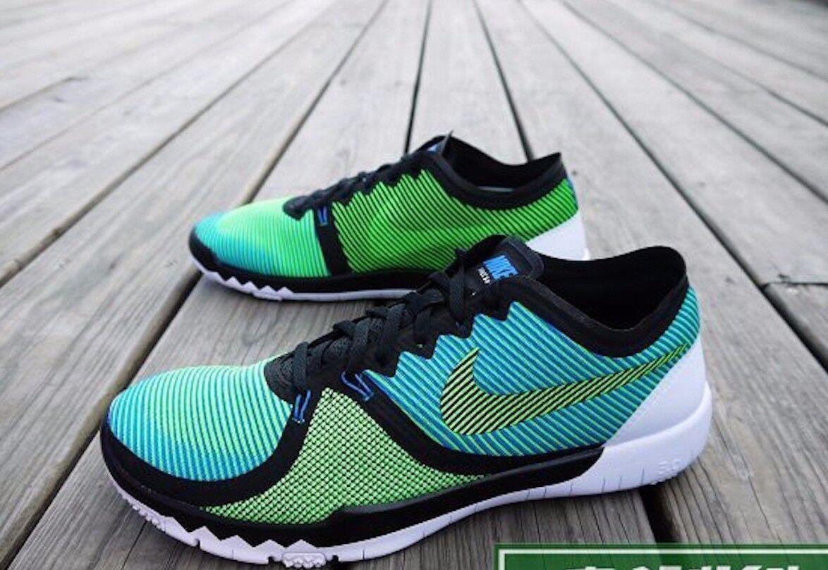 NIKE Free Trainer 3.0 V Training Running Chaussures 749361 Vert Noir Bleu Homme