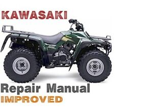 kawasaki bayou 300 repair manuals