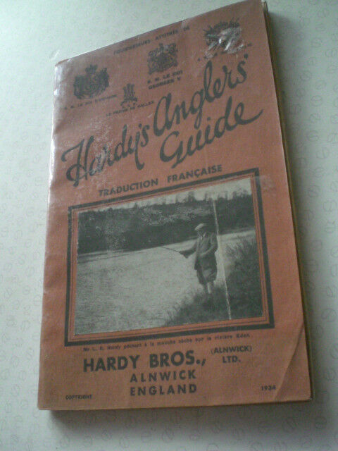 A SUPER RARE FRENCH HARDY 1934 ANGLERS GUIDE ADgreenISING FISHING CATALOGUE