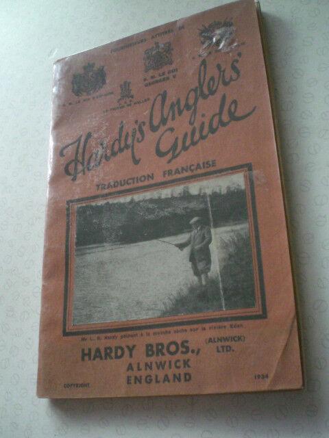 Una super rara francese Hardy 1934 Anglers Guide Pubblicità catalogo PESCA