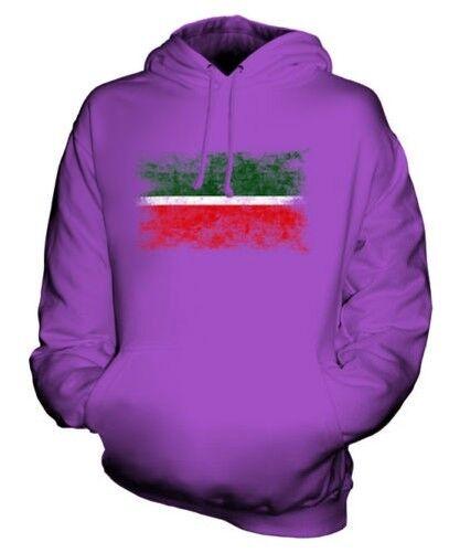Tatarstan Distressed Flagge Unisex Kapuzenpulli Top Fußball-geschenk Kleidung