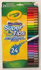 Crayola Supertips 24 Washable Markers Felt Tips Pens