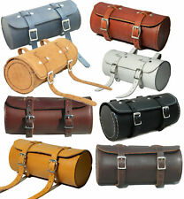 Real Leather Bicycle Saddle Bag Utility Tool Box kit bike vintage handmade stich