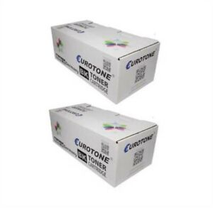 2x Eco Eurotone Toner Black For Epson EPL-N 1600 TX With Per Approx. 8.500 Pages