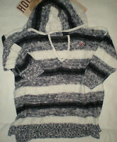 Hollister So Cal Seal Beach Blue And White Hoodie Sweater Xs Or L 3/4 Sleeve