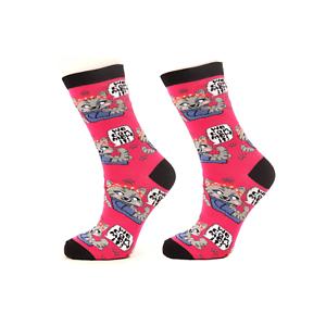 Ladies Funny Cat Socks UK 4-7We can mew it!Novelty Animal Socks