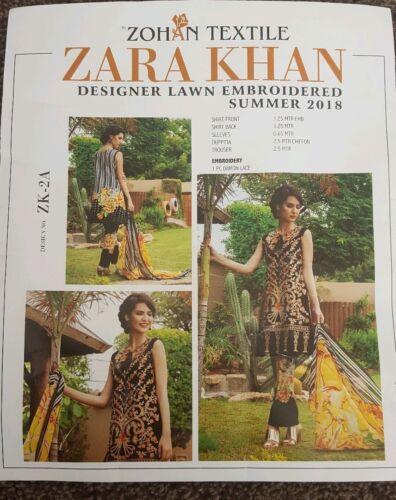 Charizma Suit Lawn Kameez Originale Khan Salwar Designer pakistano Zara nanUxq8