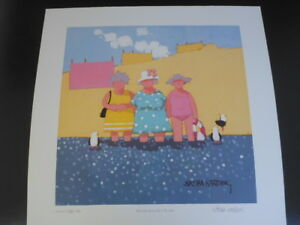 SASHA-HARDING-LTD-EDN-PRINT-039-Betty-Kate-amp-Sue-take-to-the-water-039-Signed-numbered
