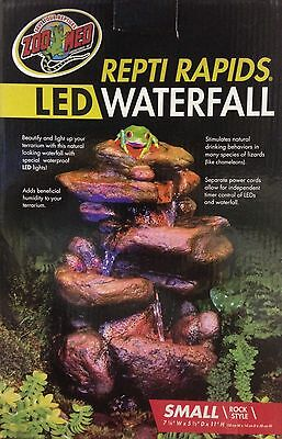 Zoo Med Repti Rapids Led Waterfall Reptile Small Rock 7 25