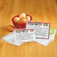 Set Of 60 Deluxe 3 X 5 Recipe Card Sleeves Savers In Pkg Photos