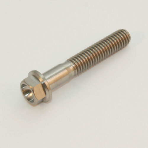 Flansch Bolt-10 15 20 25 30 35 40 45 50 55 60 65mm x1.0mm M6 Titan Sechskopf