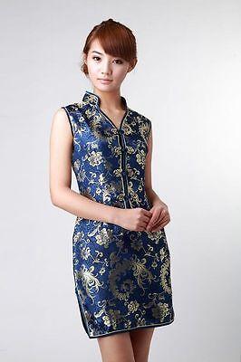 Chinese Style embroider women's Dress/Cheong-sam sz:S M L XL XXL