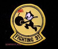 VF-31 TOMCATTERS US NAVY PATCH FELIX CAT PIN UP F14 VF1B BOEING F4B VF6 HELLCAT