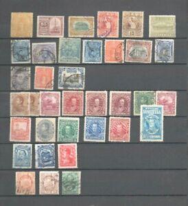 36-anciens-timbres-Amerique-du-Sud-Perou-Guatemala-Venezuela-etc