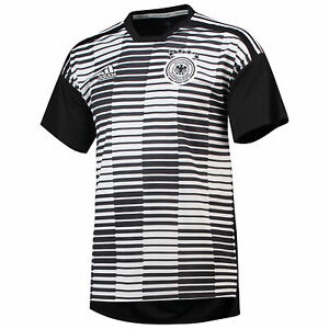 Details about Official Germany Home Pre Match Shirt White Tee Top Sport adidas Climalite Mens