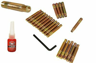 20 Pc 12x1.5 Extended Stud Conversion 75 MM Long Forged Steel Zinc Coated Bronze