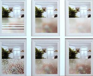 5 22 m fenster sichtschutzfolie 67x200 milchglas dekorfolie glas sichtschutz ebay. Black Bedroom Furniture Sets. Home Design Ideas