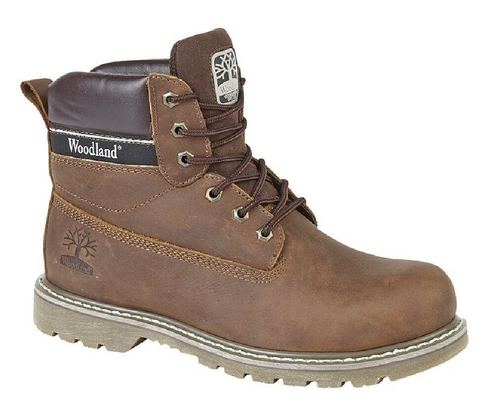 Woodland M905 Mens Fashion Stiefel Leather Utility Stiefel braun Crazy Horse Leather