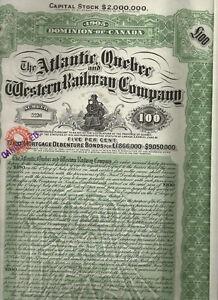 Atlantic-Quebec-and-Western-Railway-Co-1900s-LB-100