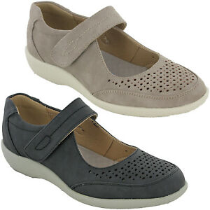 Cushion-Walk-Casual-Leisure-Shoes-Womens-Touch-Strap-Flat-Padded-Comfort-UK-3-8