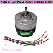 Bldc Nidec 24h677 Pwm Dc 12v Brushless Motor Cwccw Rotation Speed Signal Output