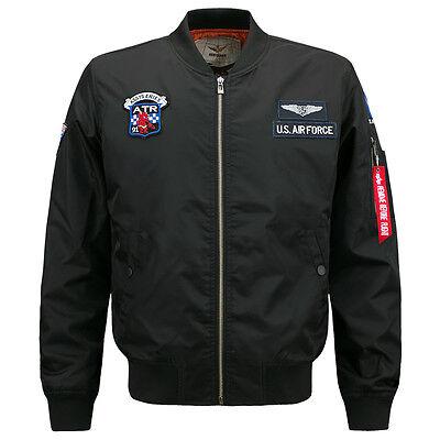 New Men's Military Army Air Force MA-1 Pilot Bomber Coat Jacket HN226